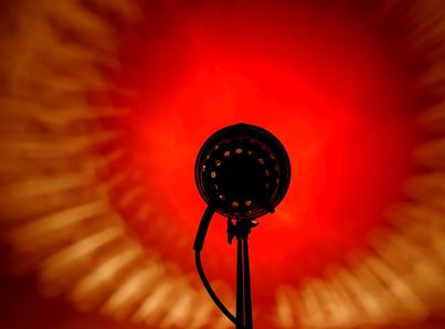 Rotlichtlampe Bauhaus design um 1940