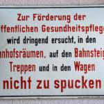 Schild aus Emaille