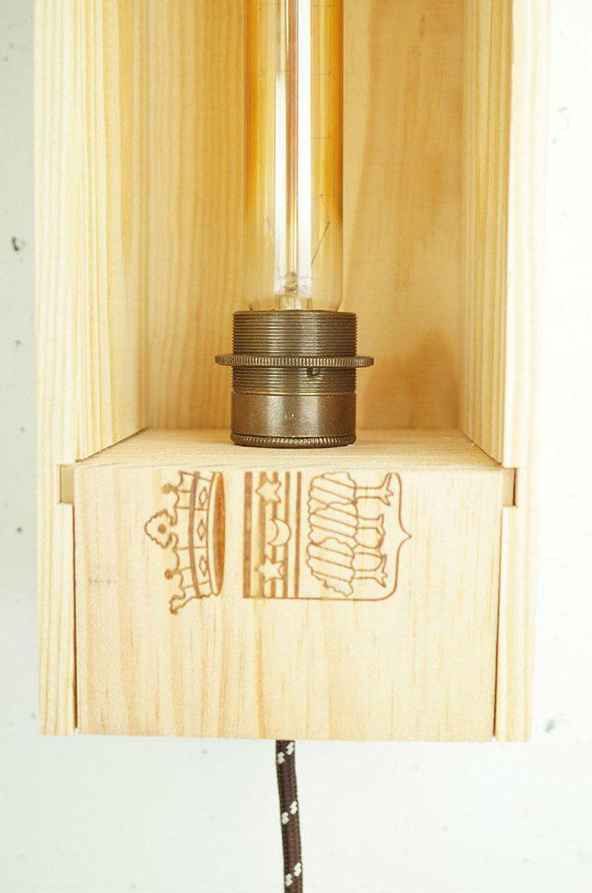 DIY Weinkisten-Lampe