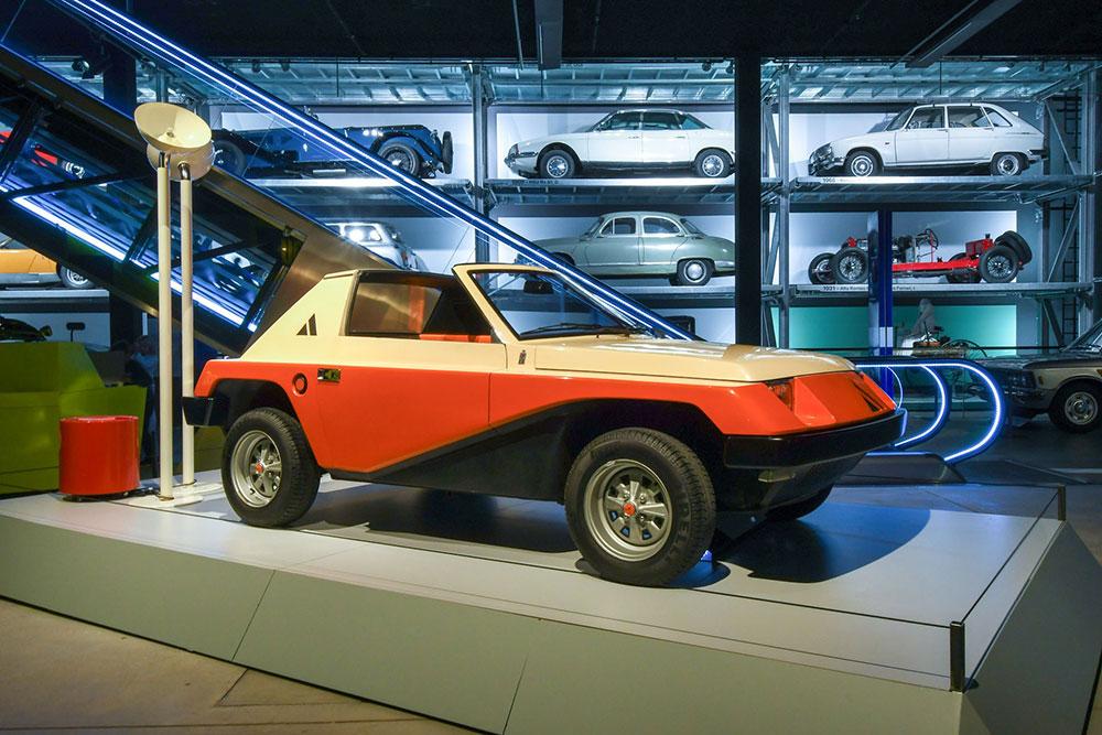 Accende ist Beleuchtungspartner der Ausstellung «Italo Design 1968−1978» im Verkehrshaus Luzern: Autobianchi A 112 Giovani