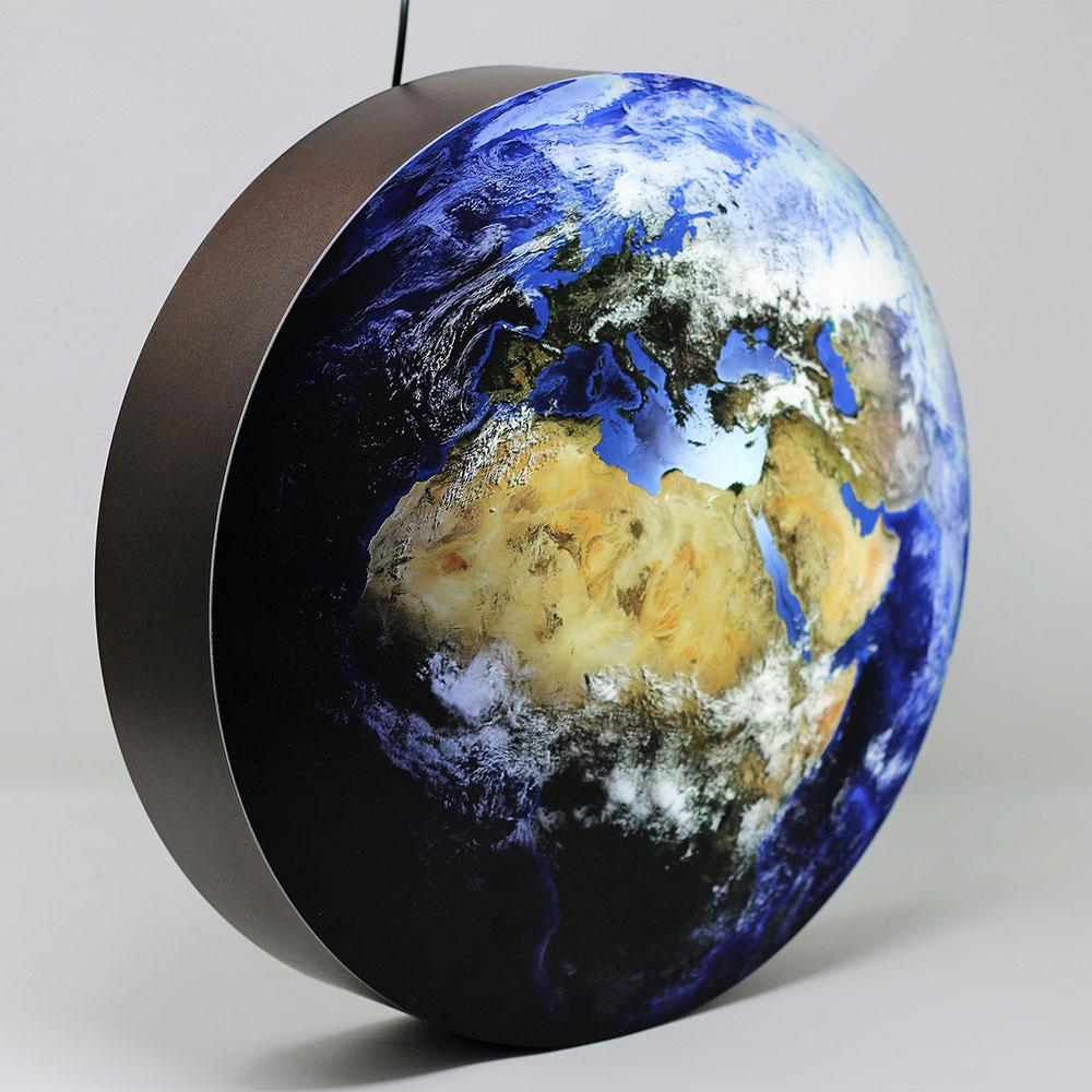 Lampe Erde / blauer Planet klein, seitlich