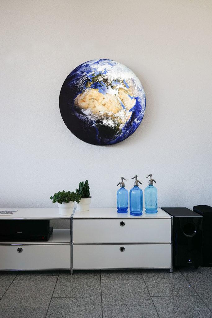 Lampe Erde / blauer Planet gross, hängend